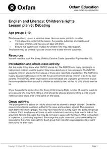 Children's Rights: Debating Lesson Plan