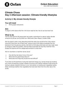 Climate Friendly Lifestyles Lesson Plan