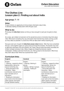 The Clothes Line: Finding Out About India Lesson Plan