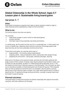 Global Citizenship in the Whole School: Sustainable Living Board Game Lesson Plan