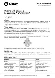 Dealing With Disaster: Whose Ideas? Lesson Plan
