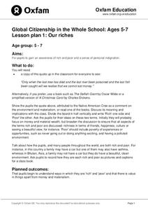 Global Citizenship in the Whole School: Our Riches Lesson Plan