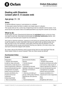Dealing With Disasters: A Causes Web Lesson Plan