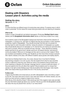 Dealing with Disasters; Activities Using the Media Lesson Plan