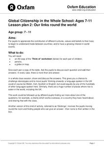 Global Citizenship: Our Links Around the World Lesson Plan