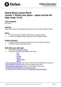 Global Music Lesson Plans: Britten and Japan – Japan and the UK Lesson Plan