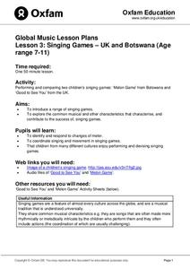 Global Music Lesson Plans: Singing Games - UK and Botswana Lesson Plan