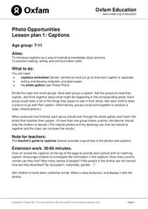 Photo Opportunities: Captions Lesson Plan