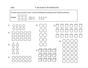 Use Arrays To Do Multiplication Worksheet