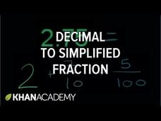 Decimals and Fractions Video
