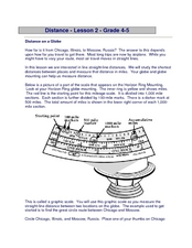 Distance on a Globe Worksheet