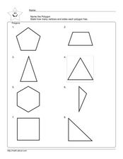 Polygons- Vertices and Sides Worksheet