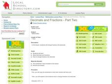 Decimals and Fractions Lesson Plan