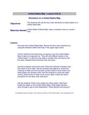 United States Map - Lesson 9 Lesson Plan