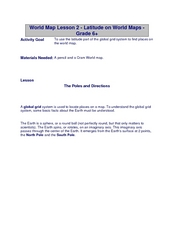 Latitude on World Maps Lesson Plan
