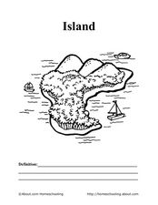 Geography Color: Island Worksheet