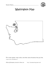 Washington Map Activity Graphic Organizer