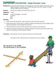 Simple Machines-Lever Lesson Plan