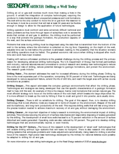 Drilling a Well Today Lesson Plan