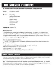 The Nutmeg Princess by Richardo Keens-Douglas Lesson Plan