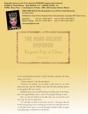 The Make-Believe Emperor Lesson Plan