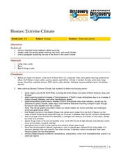 Extreme Climate Lesson Plan