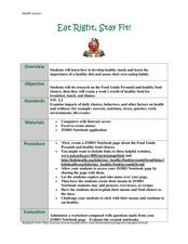 Eat Right, Stay Fit Lesson Plan