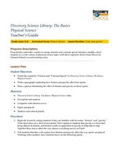 Discovery Science Library: The Basics Physical Science Lesson Plan