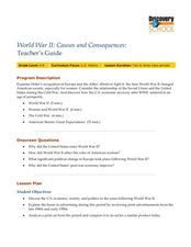 World War II:  Causes and Consequences Lesson Plan