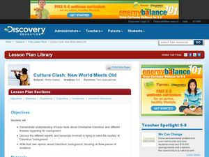 Culture Clash:  New World Meets Old Lesson Plan