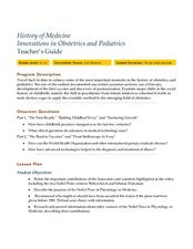 Innovations in Obstetrics and Pediatrics Lesson Plan