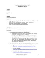 Tales of Edgar Allen Poe Lesson Plan
