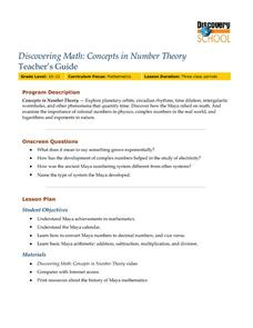 CONCEPTS IN NUMBER THEORY. Lesson Plan