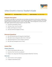Urban Growth in America Lesson Plan