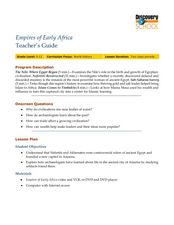 Empires of Early Africa Lesson Plan