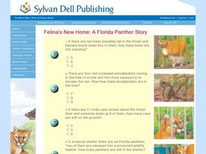 Felina's New Home: A Florida Panther Story Worksheet