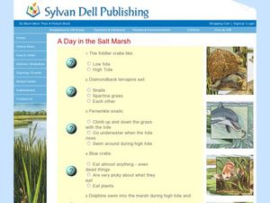 Literature Quiz: A Day in the Salt Marsh Worksheet