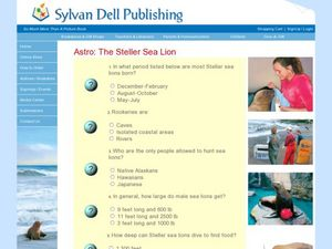 Literature Quiz: Astro the Stellar Sea Lion Worksheet
