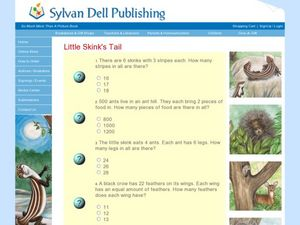 Little Skink's Tail (Math Worksheet) Worksheet