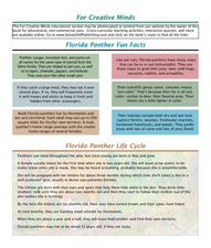 Florida Panther Fun Facts Lesson Plan