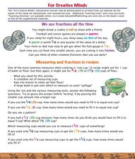 We Use Fractions All the time Worksheet