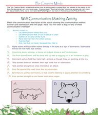 Wolf Communications Matching Activity Lesson Plan