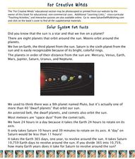 Solar System Fun Facts Lesson Plan