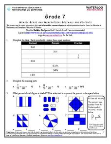 Decimals, Percents, and Fractions Worksheet