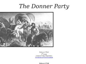 The Donner Party Lesson Plan