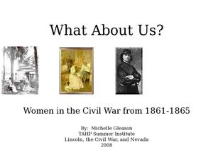 What About Us? Women in the Civil War Lesson Plan