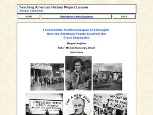 Failed Banks, Political Despair and Drought: How the American People Survived the Great Depression Lesson Plan