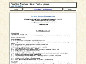 Through Northern Nevada's Eyes Lesson Plan