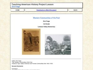 Western Communities of the Past Lesson Plan