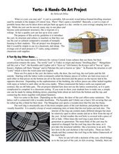 Yurts- A Hands-On Art Project Lesson Plan